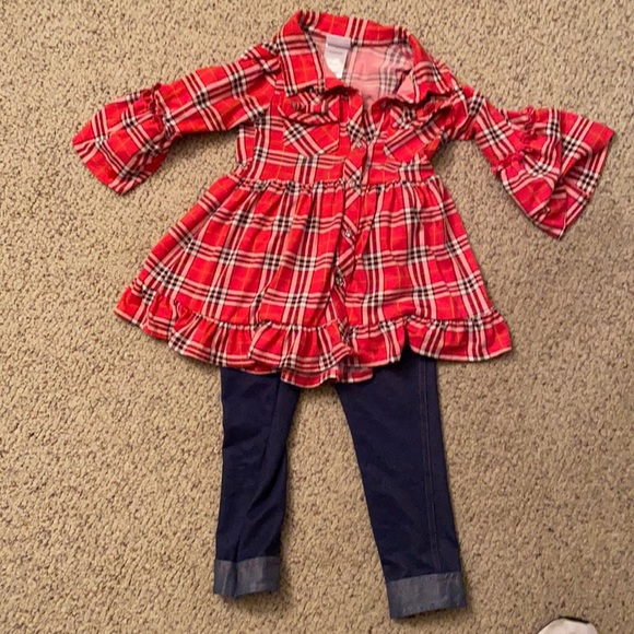 Nannette Kids Flannel top and jeans